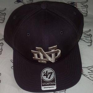 Notre Dame snapback hat